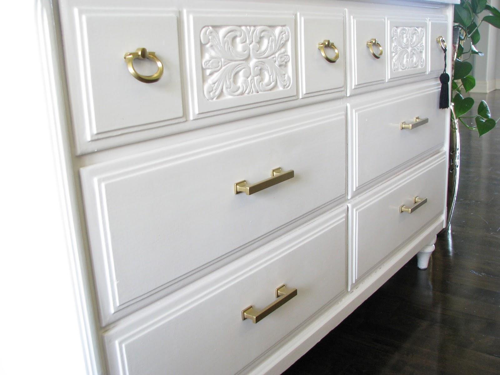 Picture of: Gold Pulls For White Dresser Life Love Larson
