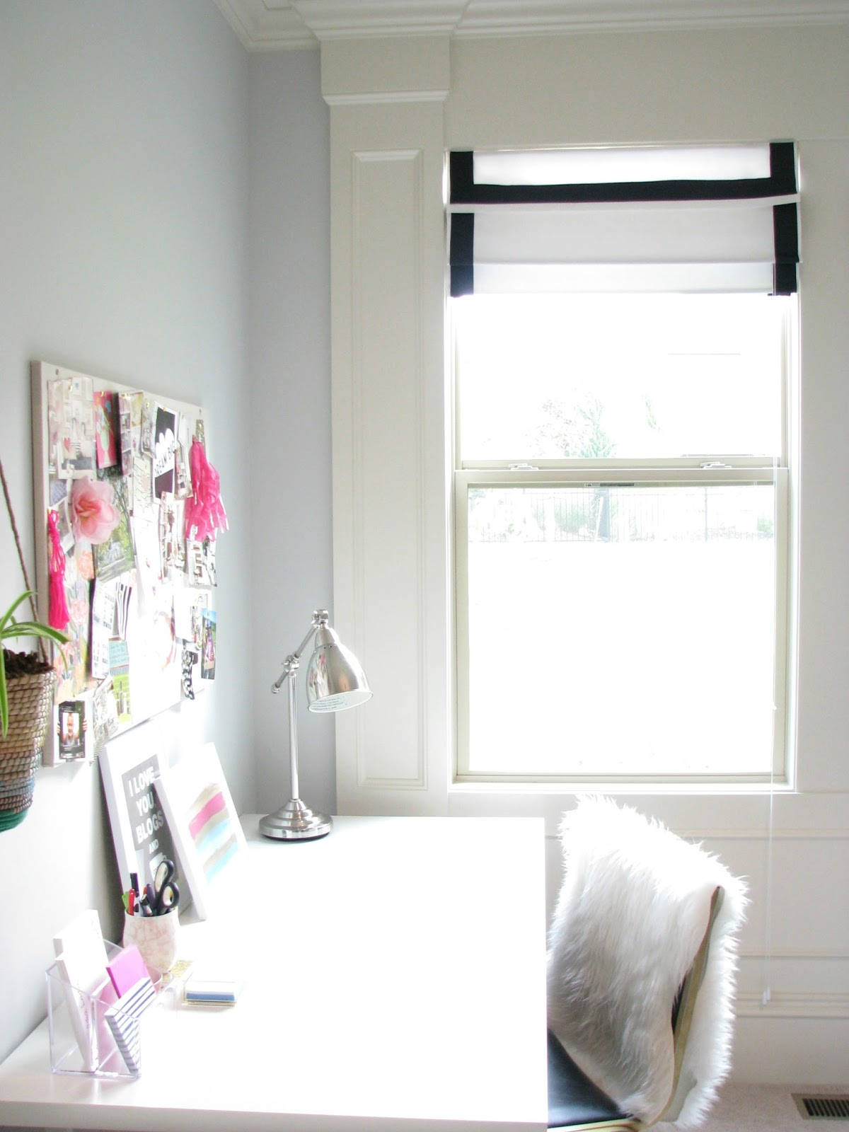 Diy Ribbon Trimmed Roman Shades Life Love Larson