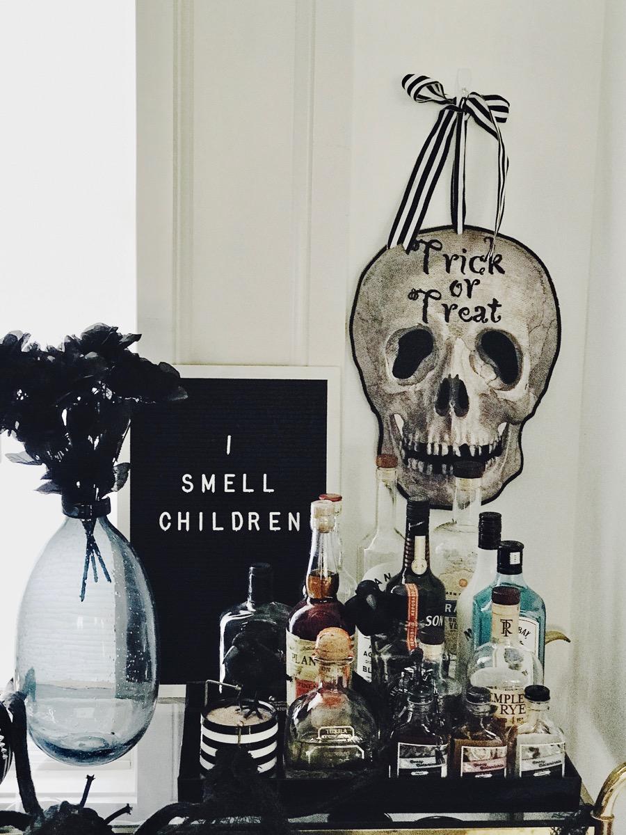 Spooky Halloween Bar Cart Life Love Larson