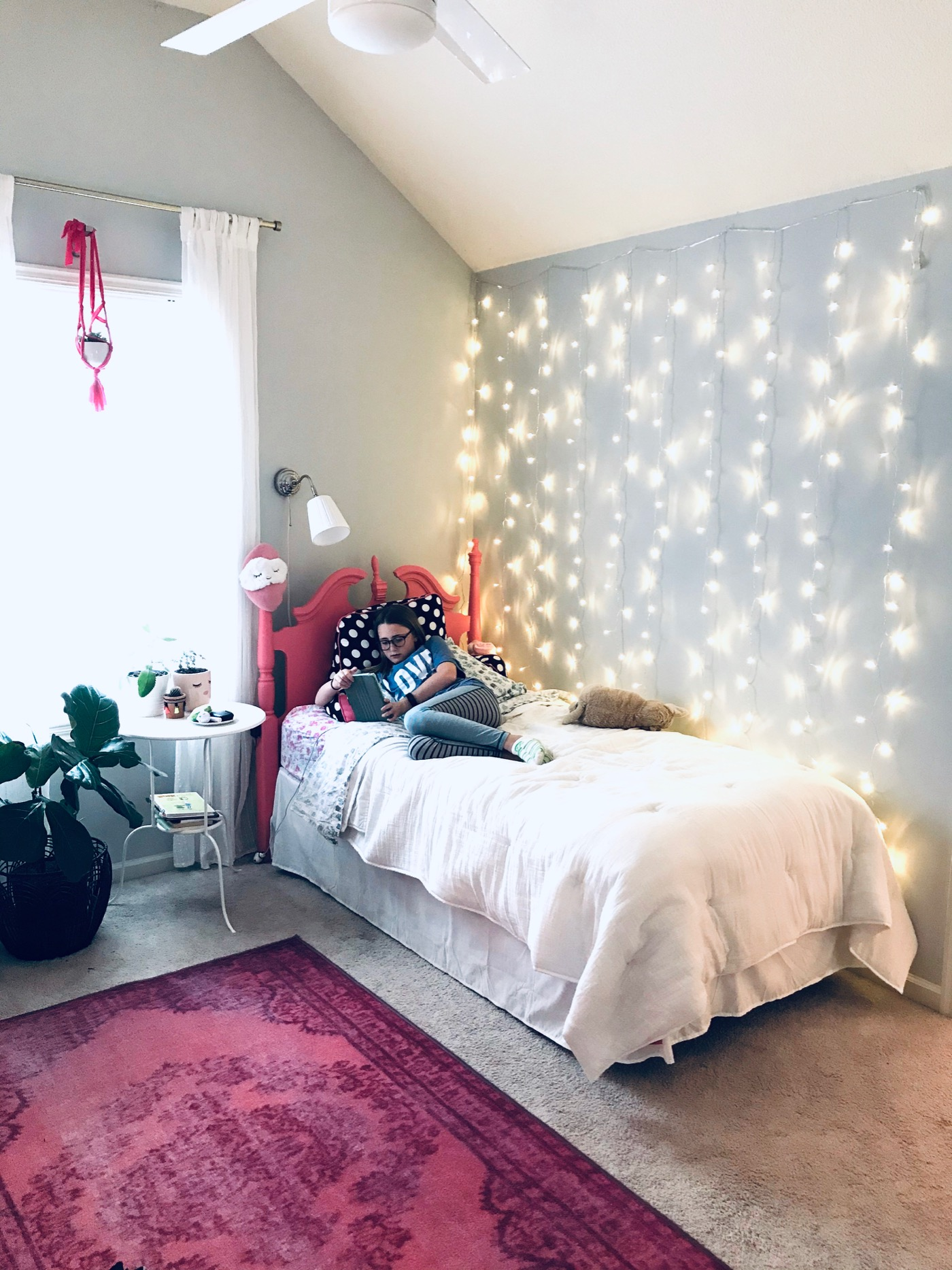 How To Easily Install Curtain Twinkle Lights Life Love Larson